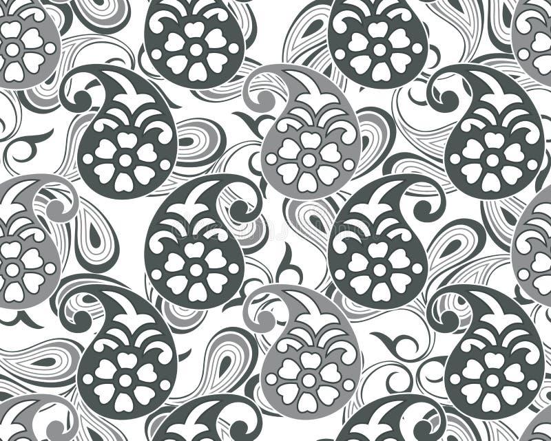 Paisley sömlös vektordesign stock illustrationer