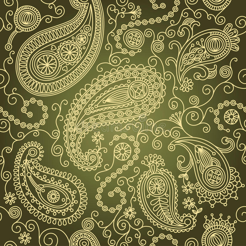 Paisley seamless vector illustration