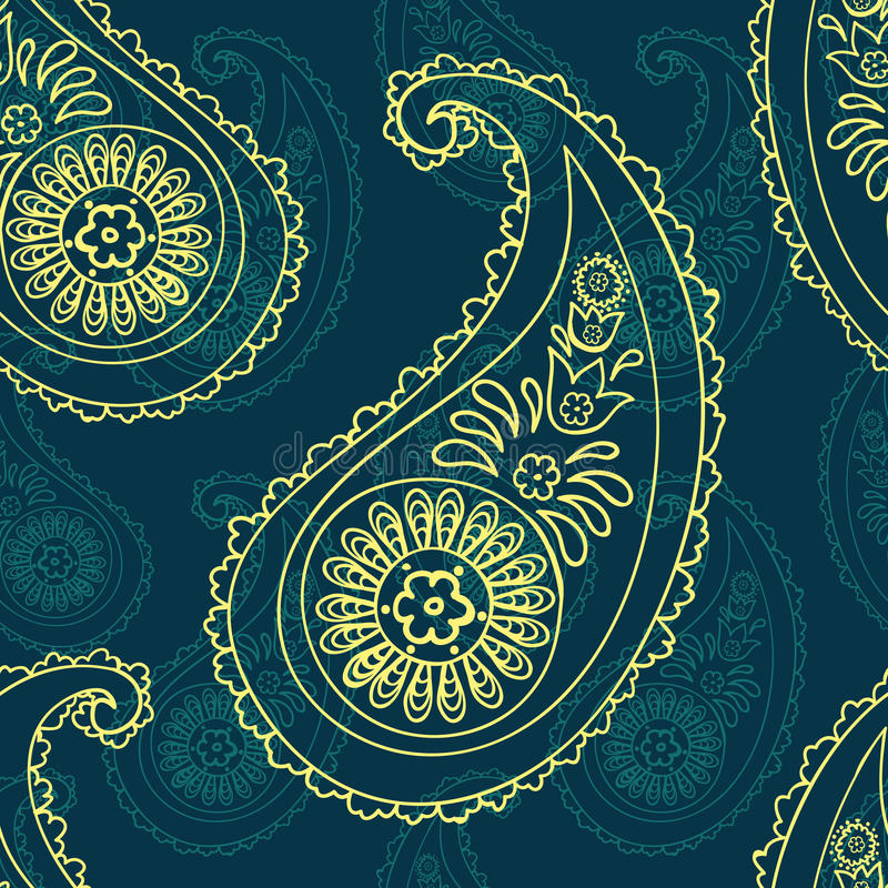 Paisley Seamless Background Stock Vector - Illustration of ...
