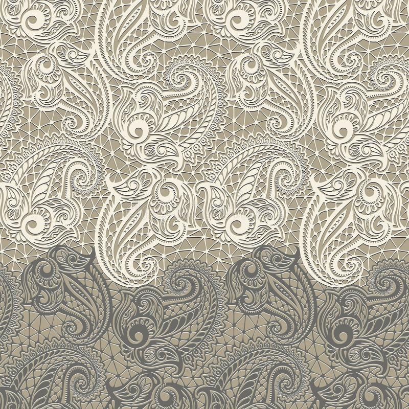Paisley seamless lace pattern. Model for design of gift packs, patterns fabric, wallpaper, web sites, etc royalty free stock image