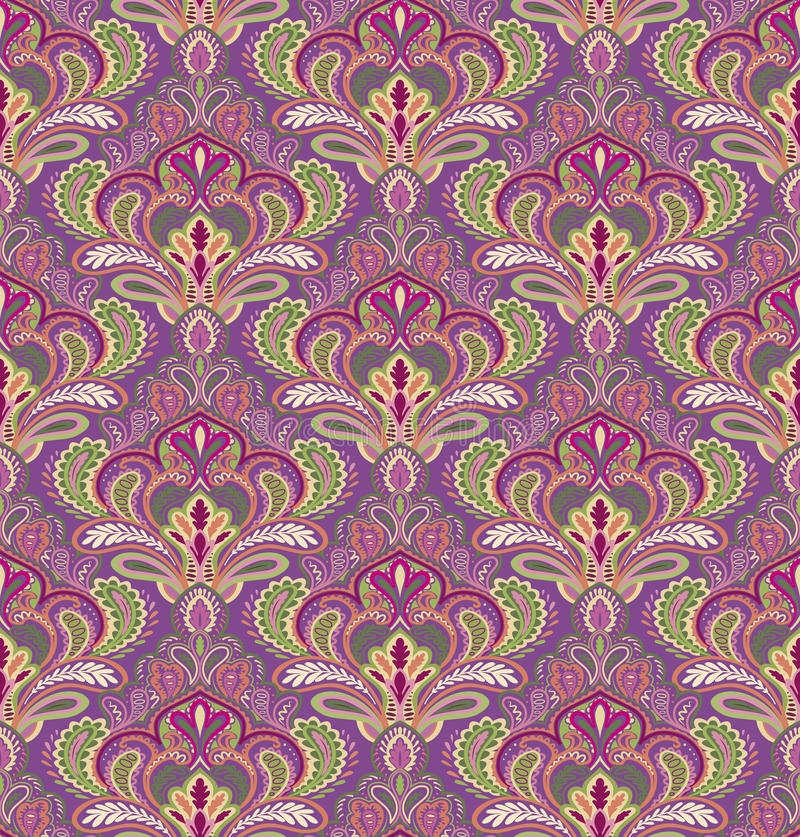 Paisley seamless pattern. In editable vector file vector illustration