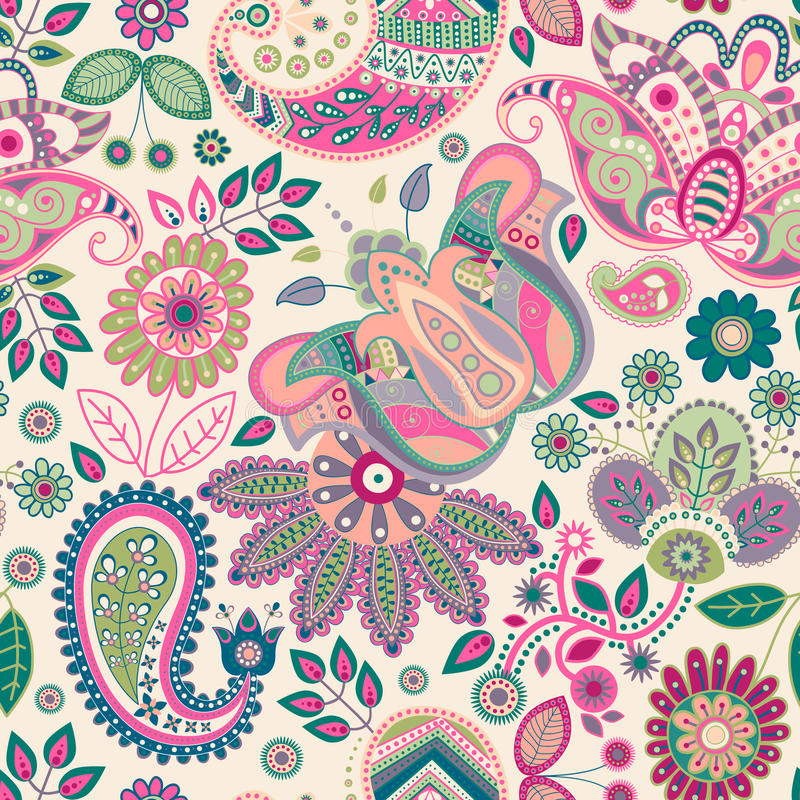 Free Paisley Seamless Pattern Stock Images - 60045824
