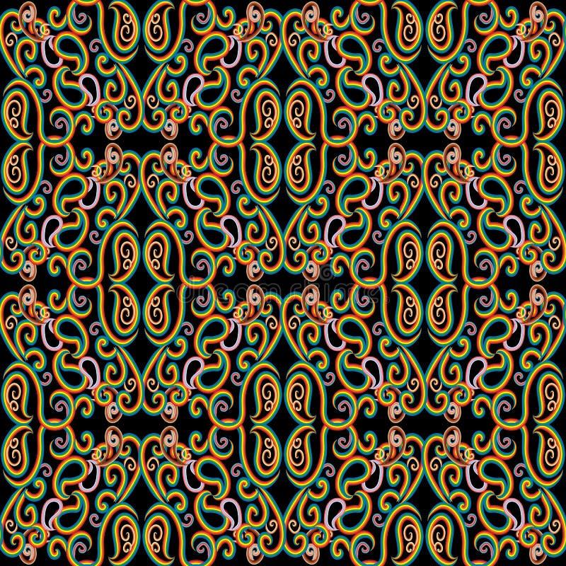 Paisley seamless pattern. Decorative ornamental colorful ethnic royalty free illustration