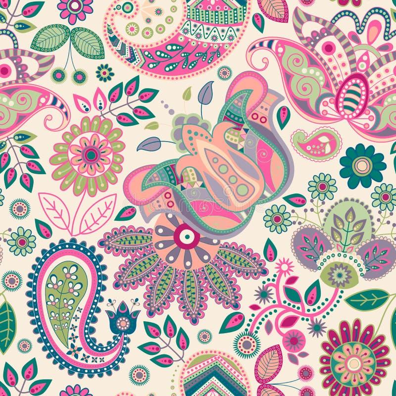 Paisley seamless pattern vector illustration