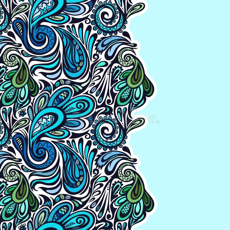 Paisley seamless pattern stock illustration