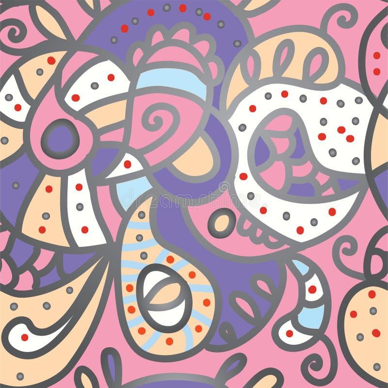 Paisley seamless pattern for silk. Textile stock illustration