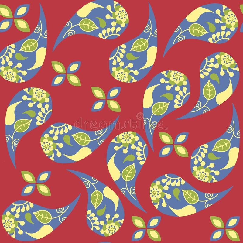 Paisley seamless pattern in vector. it is located in swatch menu. Creative colorful   backdrop  for design print and surface vector illustration