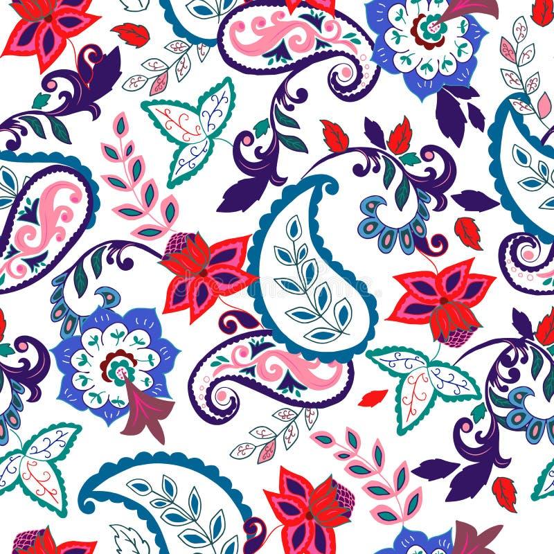 paisley seamless textur royaltyfri illustrationer