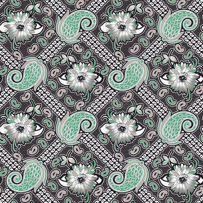 Paisley senza cuciture con il modello geometrico illustrazione di stock