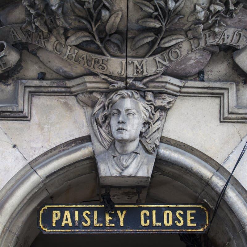 Paisley slut i Edinburg royaltyfri fotografi