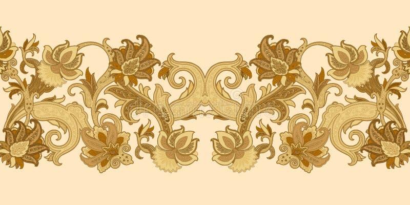 Paisley tła Tekstylnego druku tła Ilustracyjna Geometrical grafika ilustracja wektor