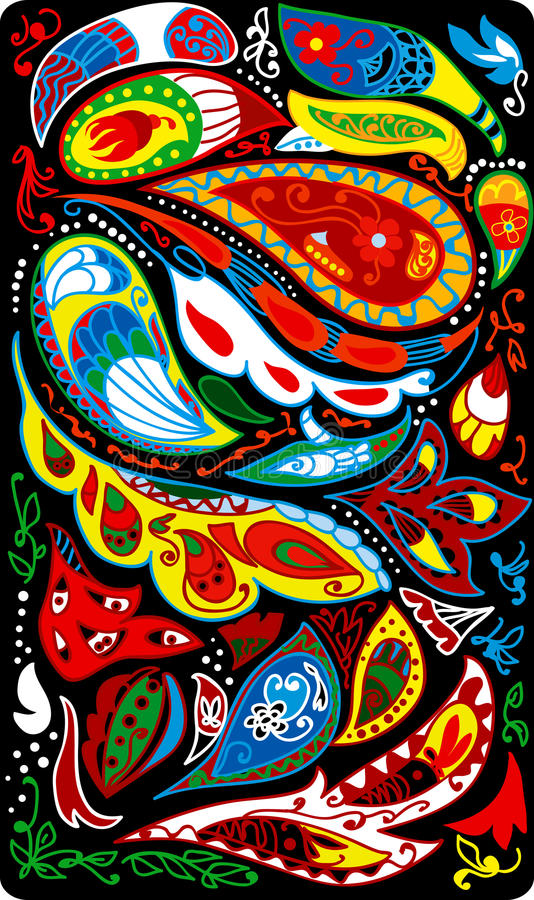 Paisley tło ilustracji