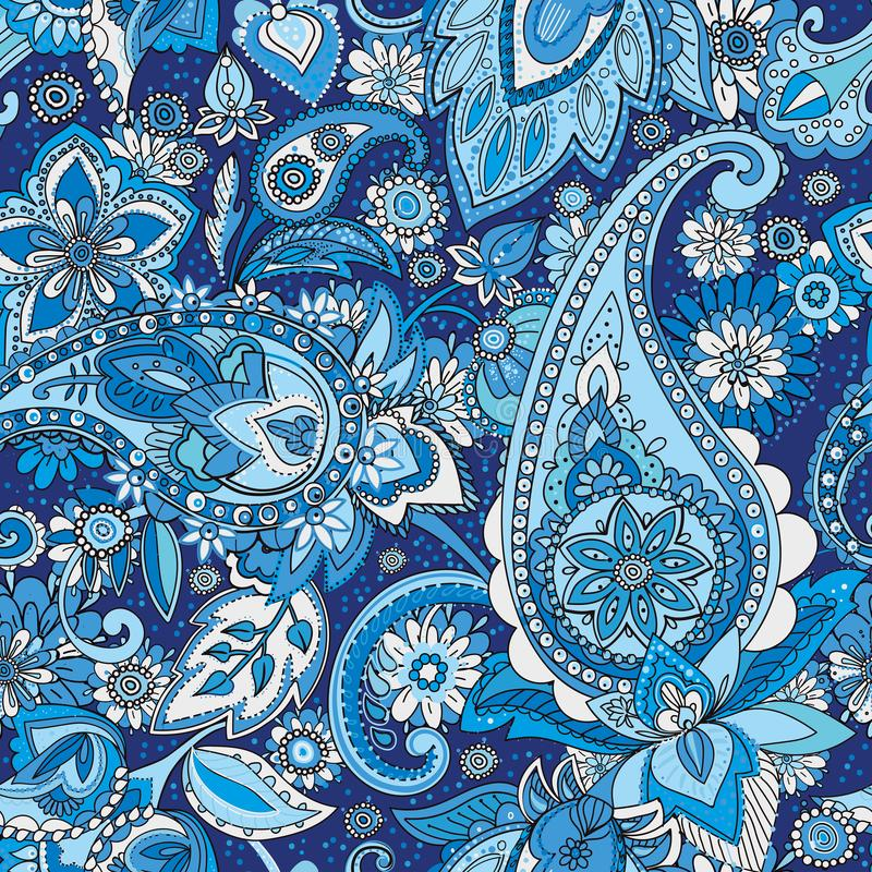 Paisley. Vintage pattern in Paisley style, based on the traditions of Oriental patterns. Seamless pattern based on traditional Asian elements Paisley. Drawing on stock illustration