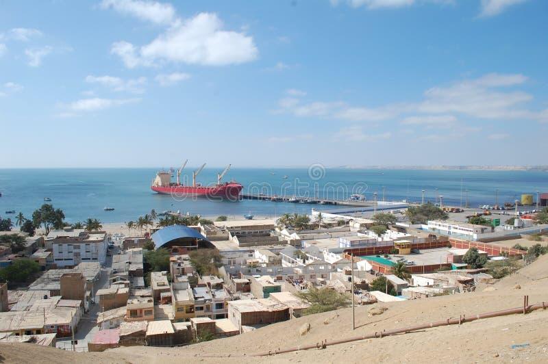 Paita harbor Peru royalty free stock image