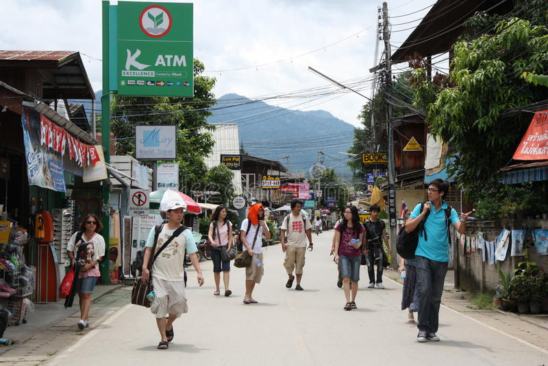 paithailand turister royaltyfri fotografi