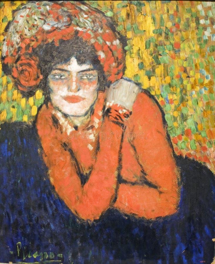 Paiting by Pablo Picasso imprezionizm stock image