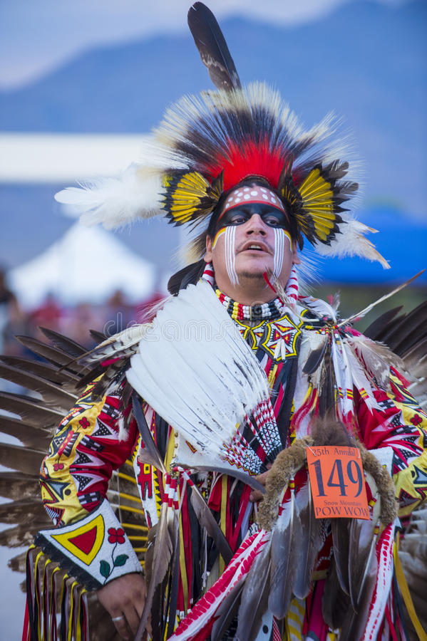 Paiute plemienia Pow no! no! obrazy stock