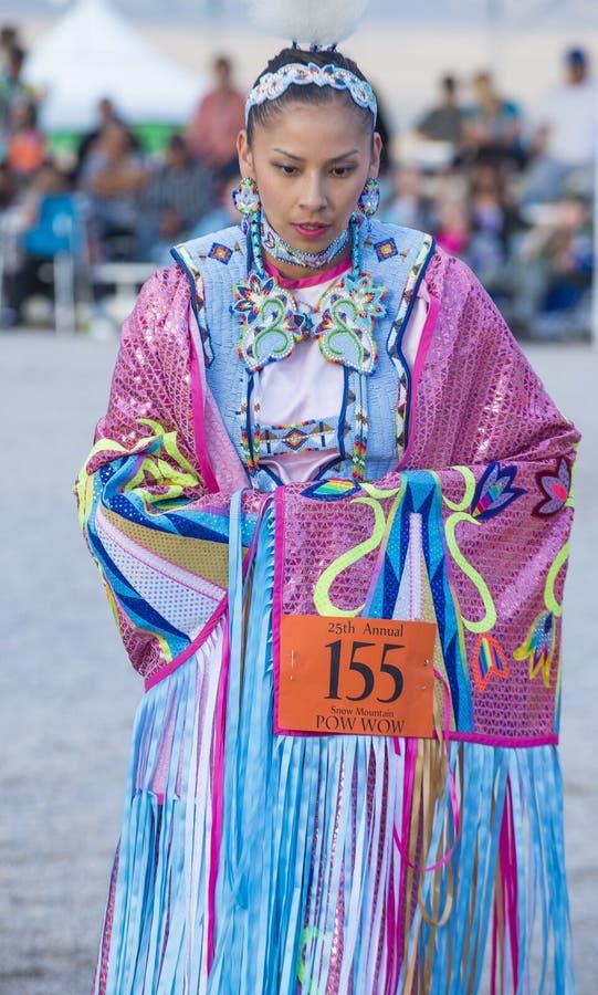 Paiute plemienia Pow no! no! zdjęcie stock