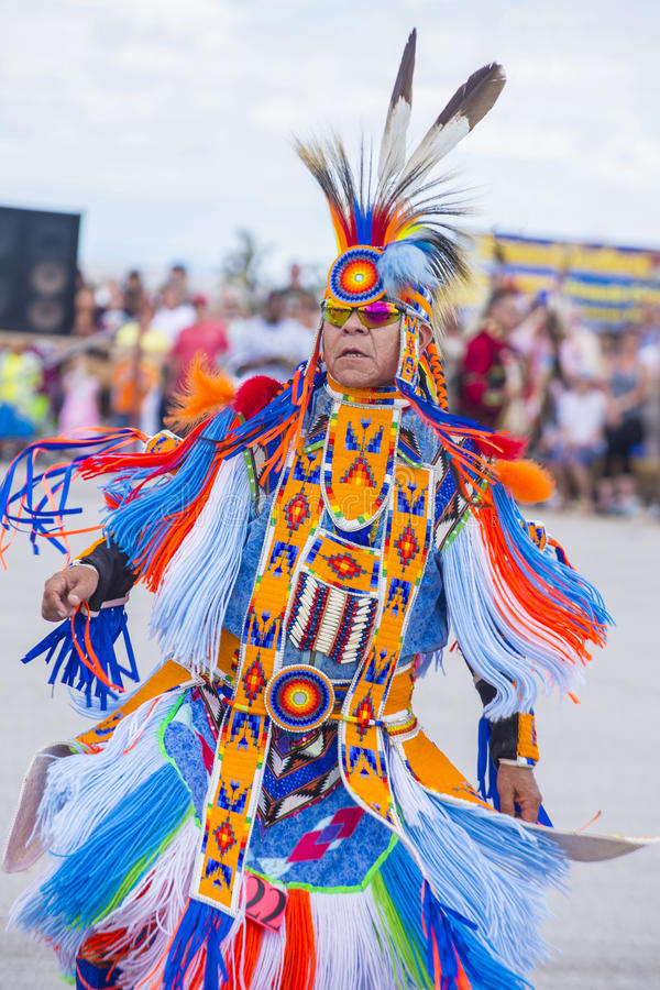 Paiute plemienia Pow no! no! obraz royalty free