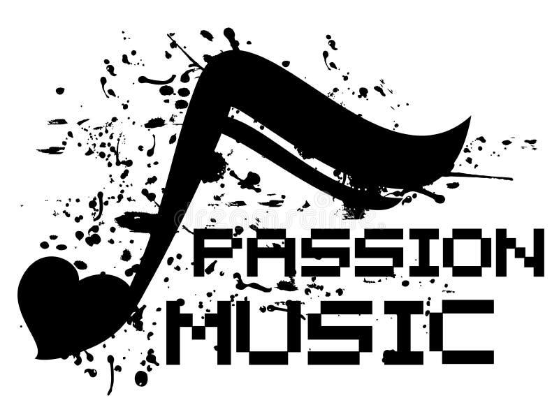 Paixão da música ilustração stock