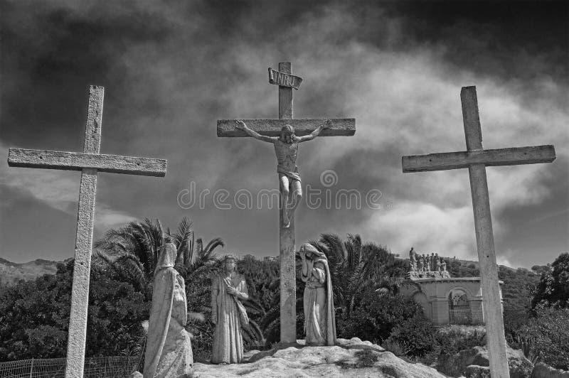 A paixão de Cristo fotografia de stock