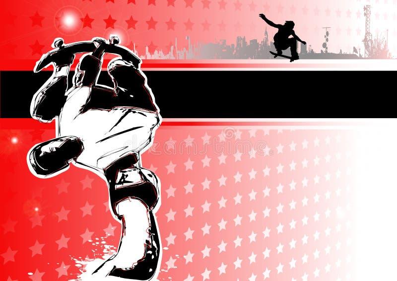 Paixão de skateboarding ilustração royalty free