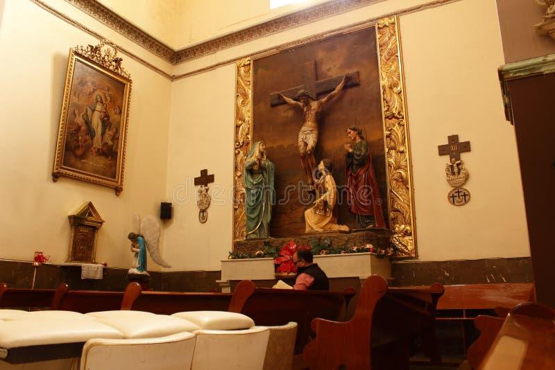 Paixão do christ no templo da terceira ordem em Leon, Guanajuato imagens de stock royalty free