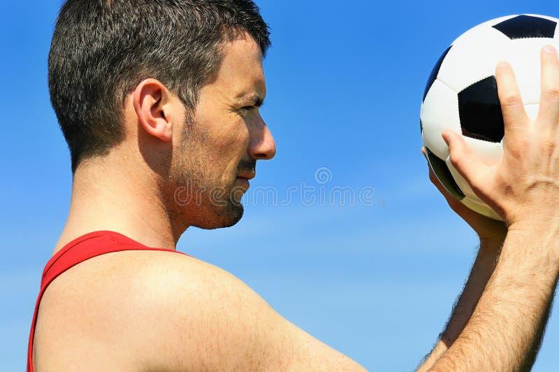 Paixão do futebol fotos de stock
