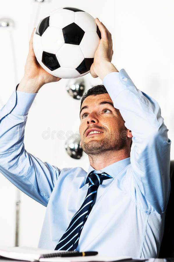 Paixão do futebol fotografia de stock royalty free