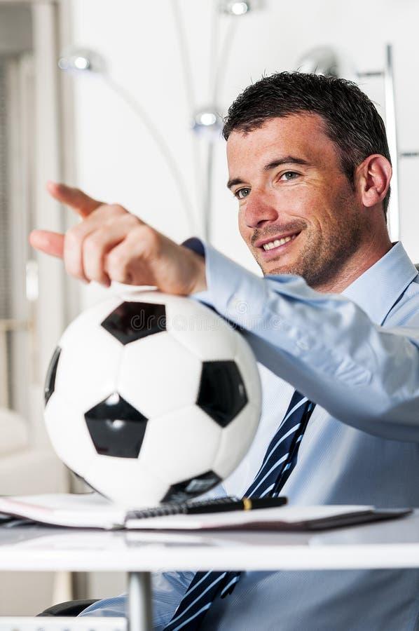 Paixão do futebol foto de stock