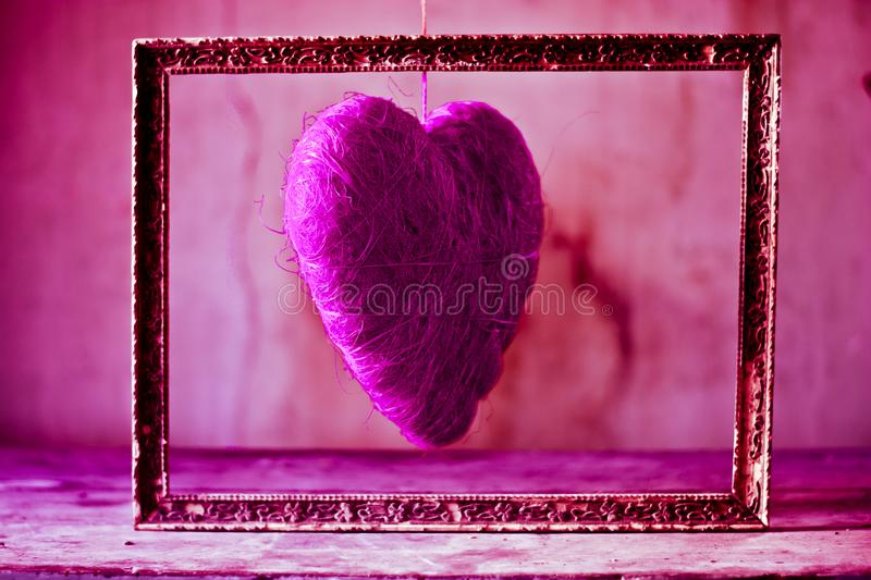 A paixão e o amor de uma única cor imagens de stock