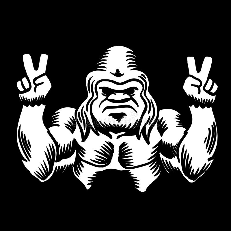Paix de Bigfoot illustration stock