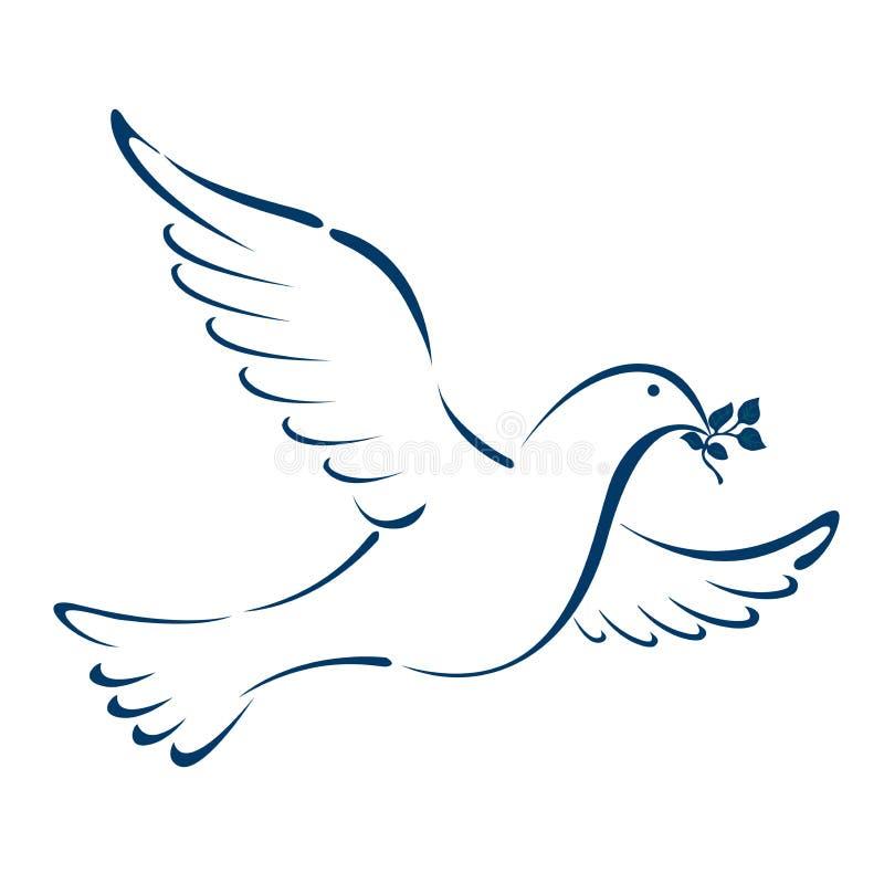 Paix de colombe illustration de vecteur. Illustration du ...