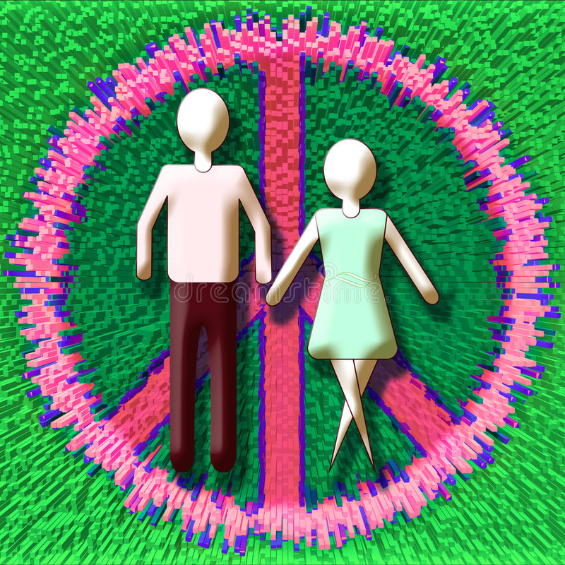 Paix De Couples Photo stock