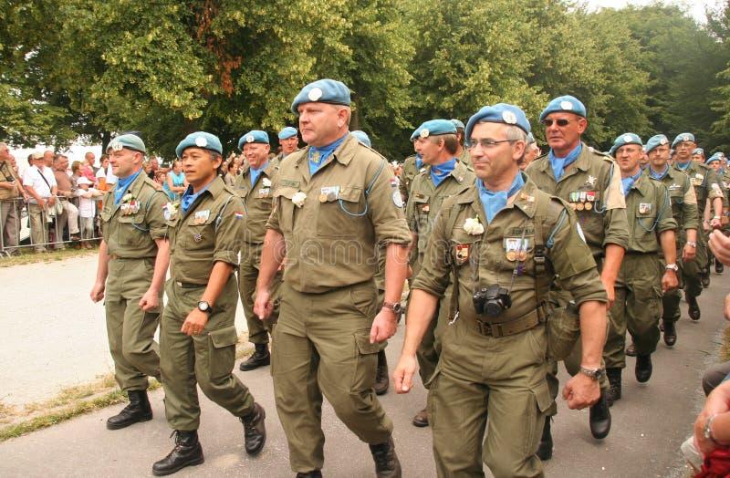 Paix de l'ONU gardant des vétérans images libres de droits