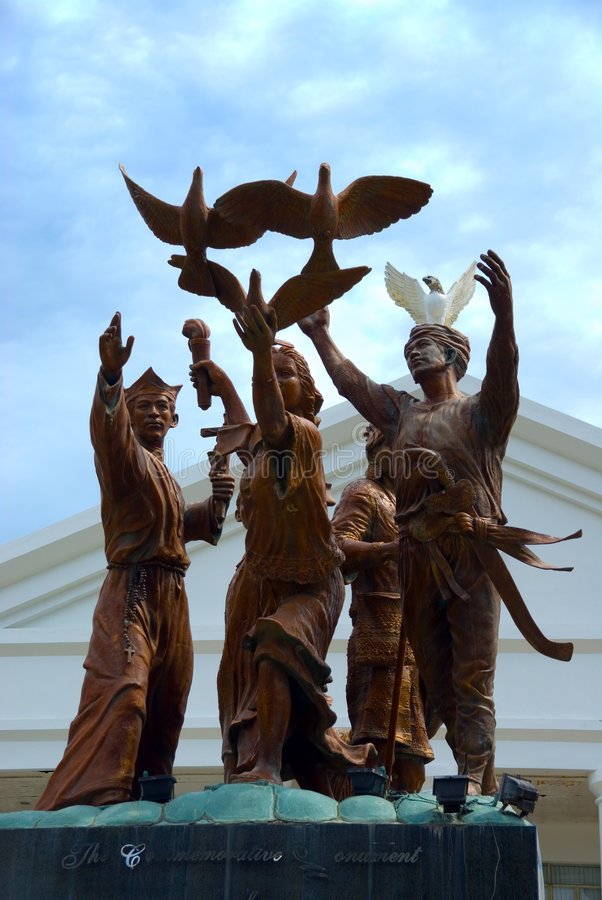 paix de monument de mindanao image stock