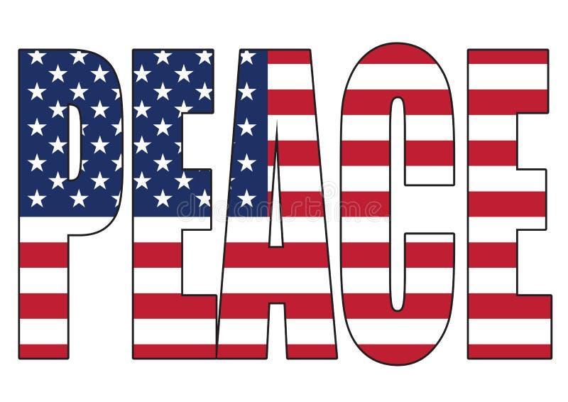 Paix des Etats-Unis d'Amérique illustration stock