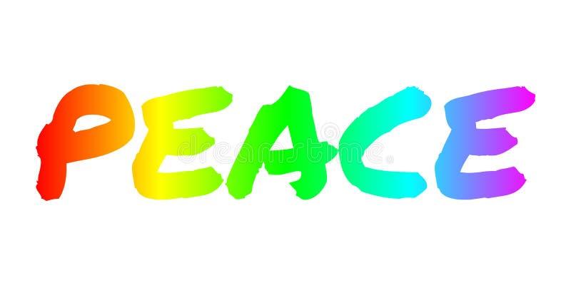 Paix - motivation, philosophie, bannière de mode de vie illustration de vecteur