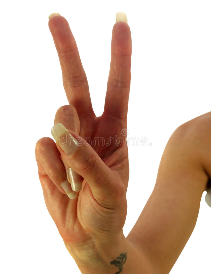 Download Paix ou victoire image stock. Image du message, mouvement - 2137397