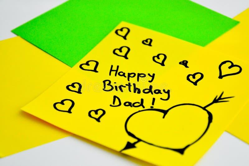 Paizinho do feliz aniversario imagem de stock