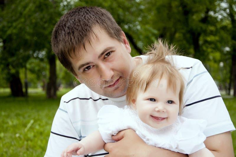 Paizinho e bebê fotografia de stock royalty free