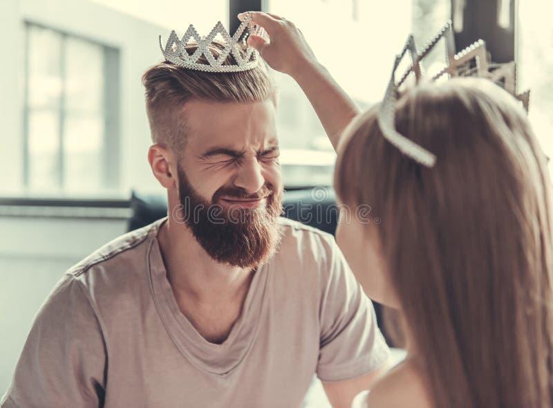 Paizinho e filha imagens de stock royalty free