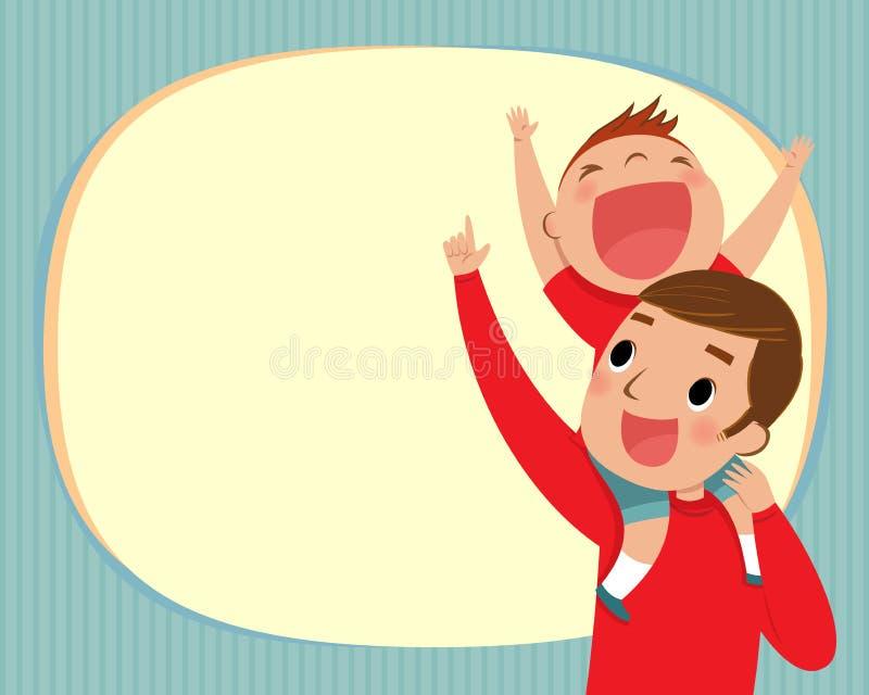 Paizinho e menino ilustração stock