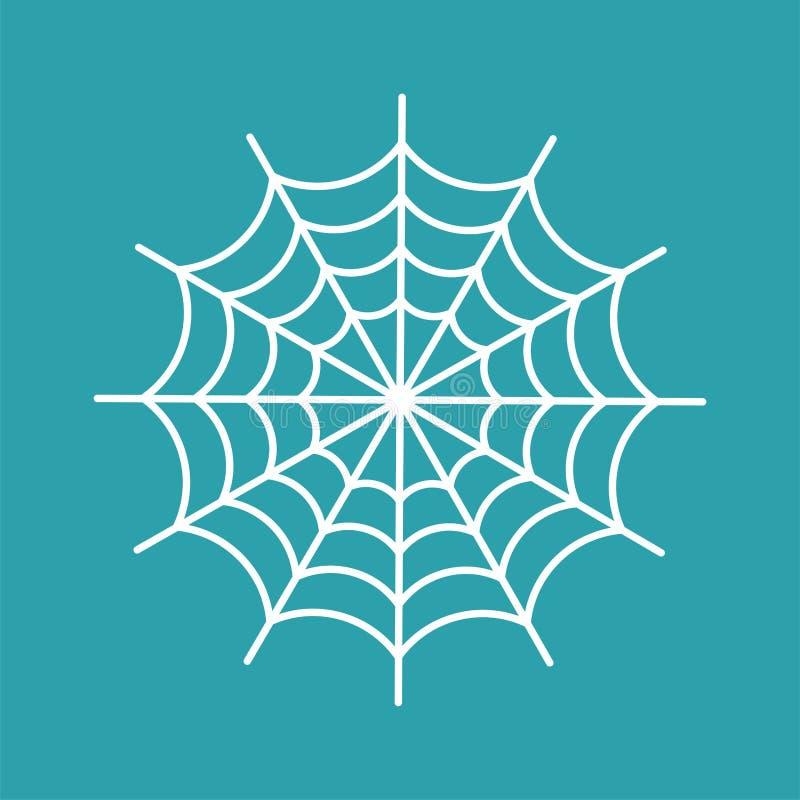 Pająk sieć odizolowywająca pajęczyny Halloweenowa wektorowa ilustracja Spide ilustracji