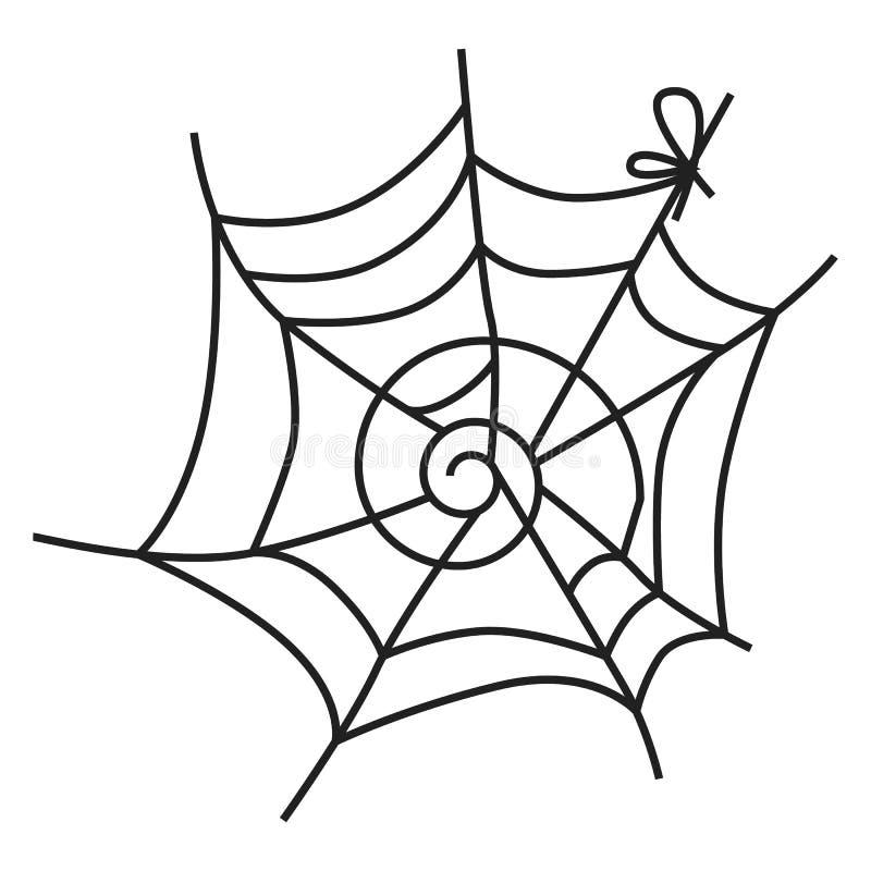Pająk sieci ikona, prosty styl ilustracja wektor