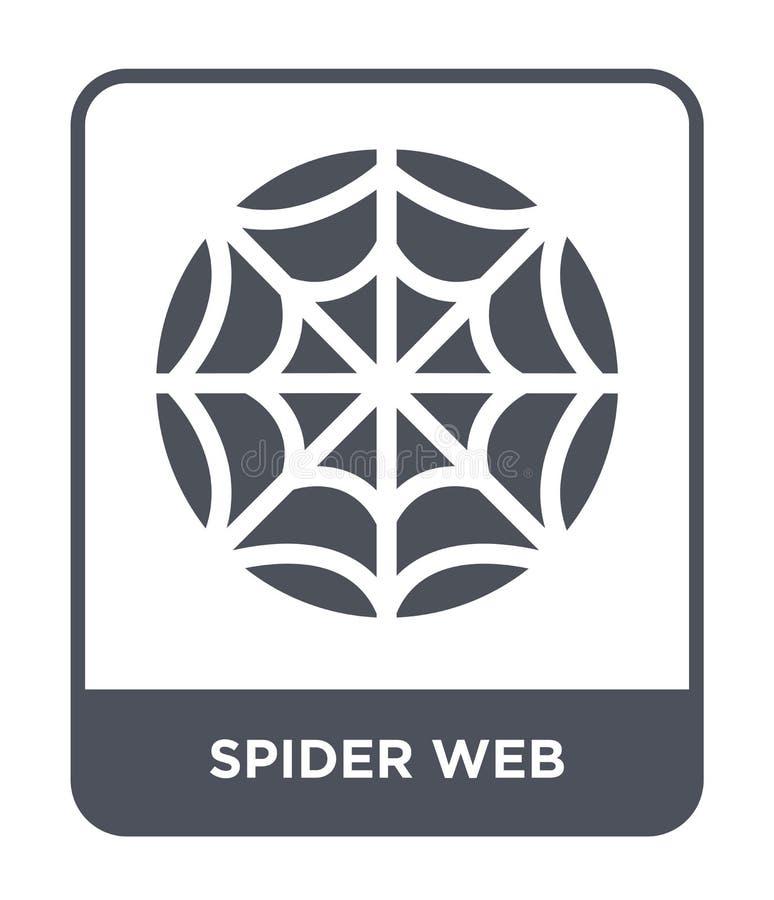 pająk sieci ikona w modnym projekta stylu pająk sieci ikona odizolowywająca na białym tle pająk sieci wektorowa ikona prosta i no ilustracji