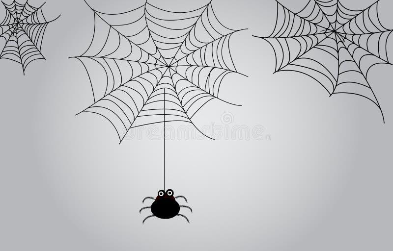 Pająk sieci tło ilustracja wektor