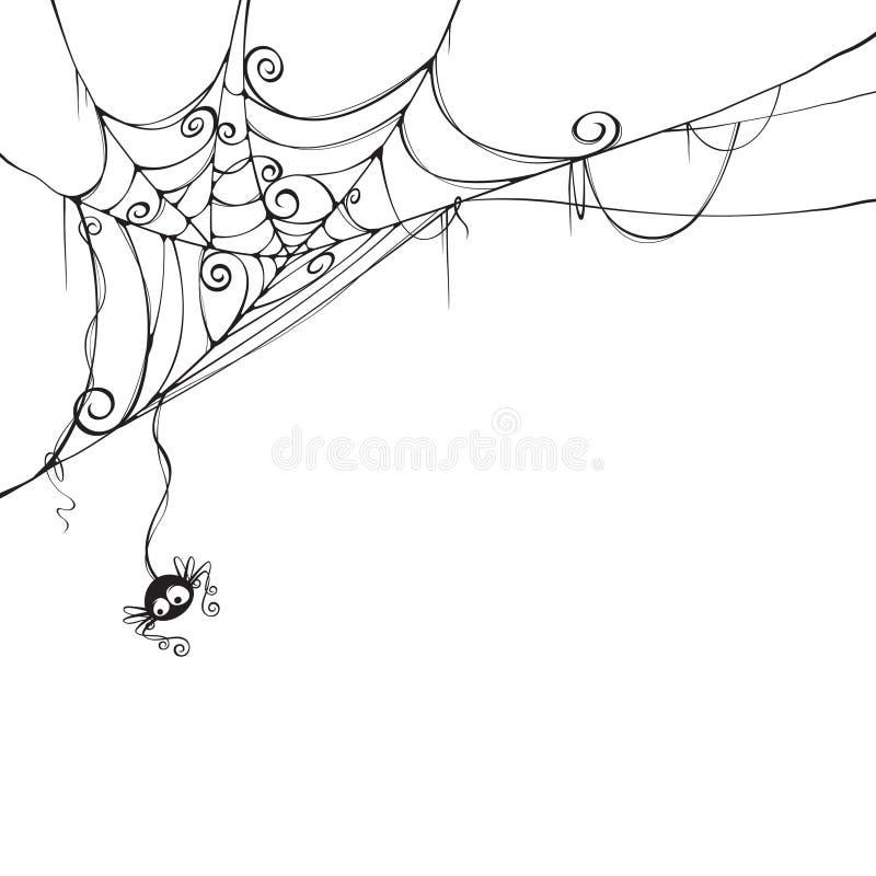 Pająk straszna sieć ilustracji