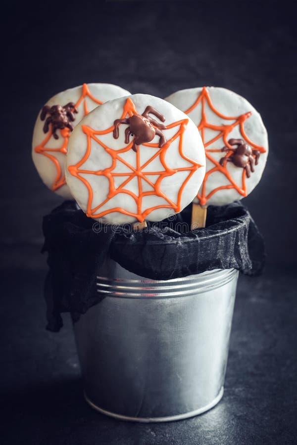 Pająka ciastka lizaki obrazy royalty free