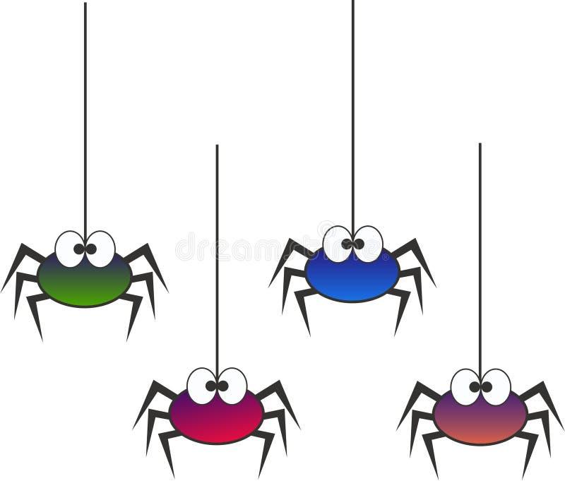 pająki royalty ilustracja